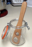 A unique Starter Stirrer designed specifically for mixing San Francisco Sourdough Starter.